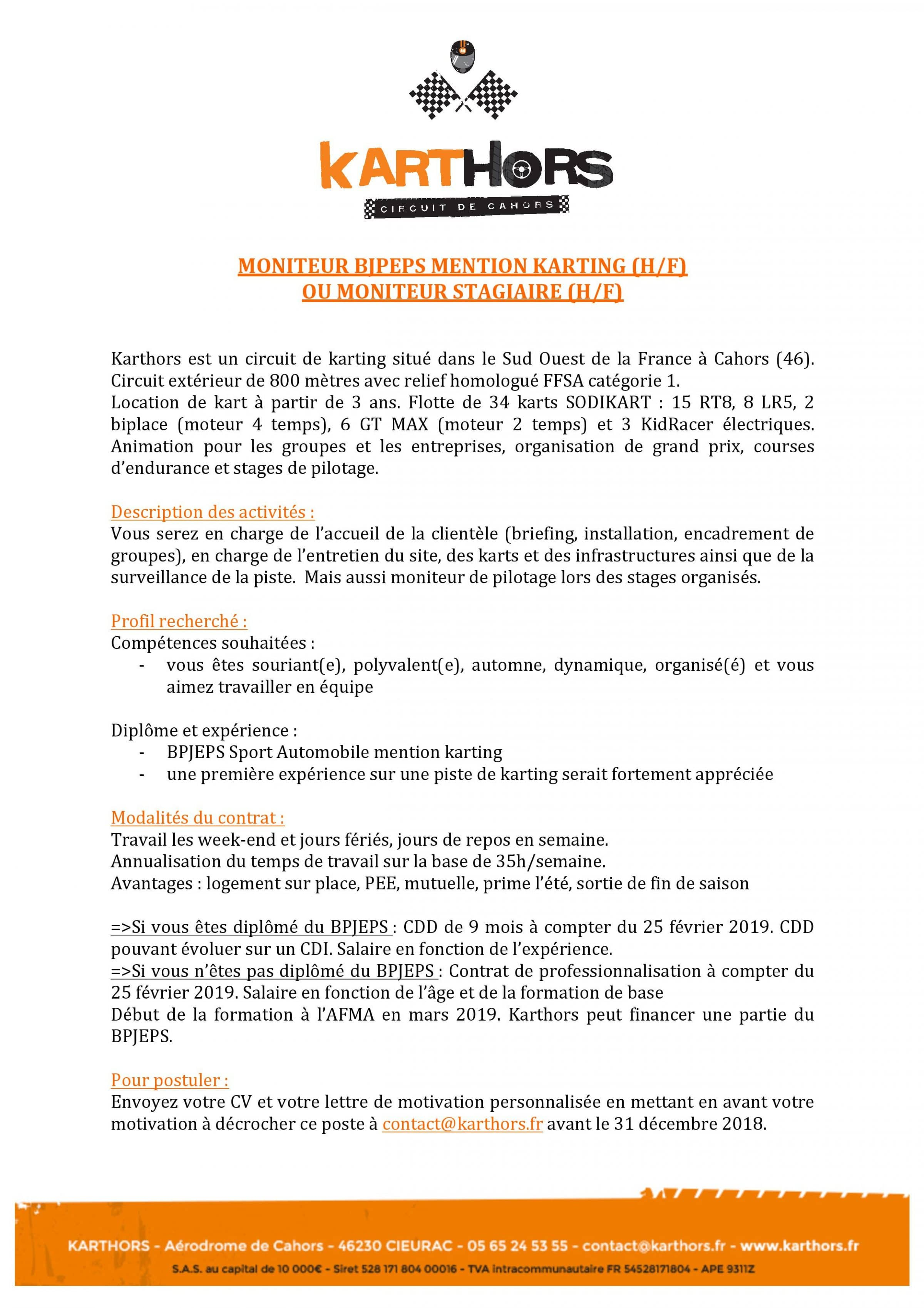 Offre D Emploi 2019 Karthors Karthors